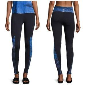 Skyward Paneled Leggings Cobalt Blue Tie Dye XL